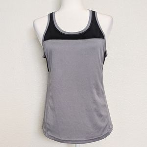 Exerted Grey & Black Mesh Work Out Tank Top Small